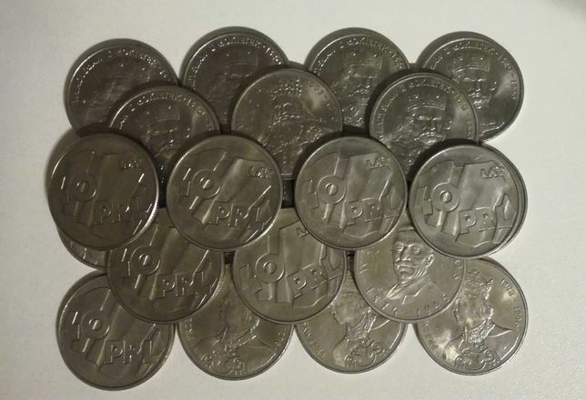 Stare polskie monety o nominale 100 zl