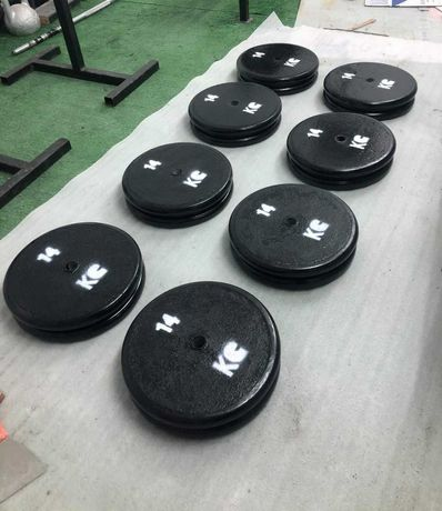 Obciążenia gumowe obciążenie stalowe żeliwne na siłownię krążki