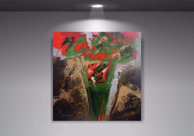 """Картина """"Степной ветер"""" (масляная живопись) 60х60 см."""