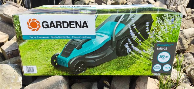 Газонокосарка, газонокосилка Gardena Powermax 1100/32