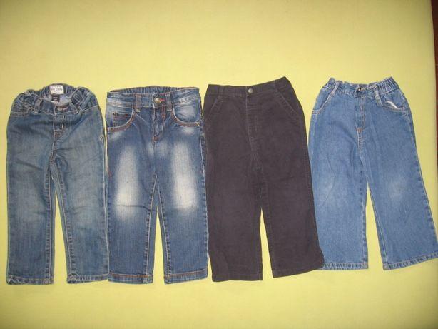 Джинсы/штаны/брюки мальчику на 2 года (92 размер), 4 шт