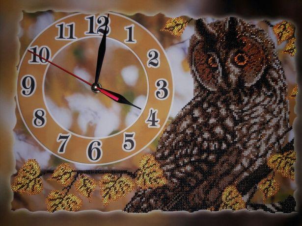 Часы СОВА,ручная работа