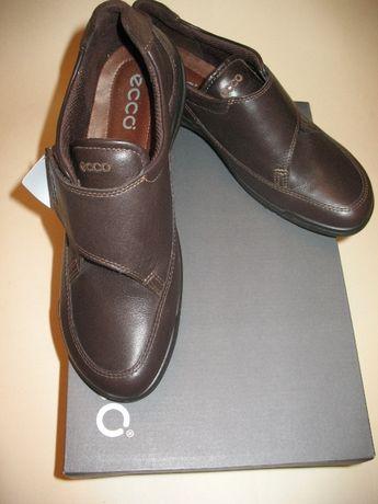 Новые кожаные удобные туфли полуботинки Ecco, оригинал, p. 37-37,5