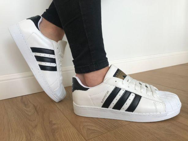 Adidas Superstar. Rozmiar 39. Białe - Czarne paski. Bardzo modne!