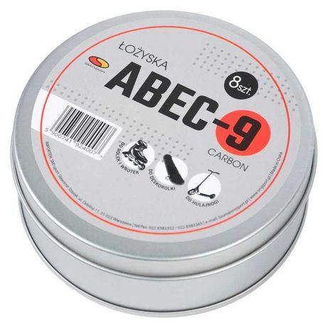 Łożyska ABEC-9 puszka 8szt. carbon