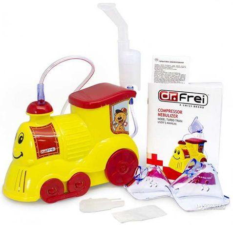 Ингалятор (небулайзер) компрессорный Dr.Frei Turbo Train Новый!
