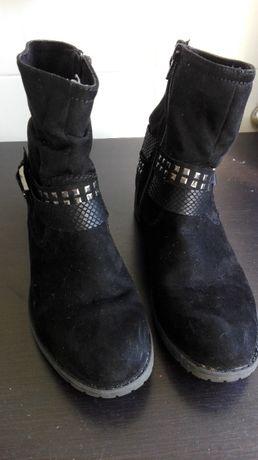Botas camurça pretas tamanho 37