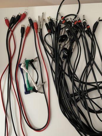 Kable instrumentalne, RCA, MIDI, TS, do łączenia efektów