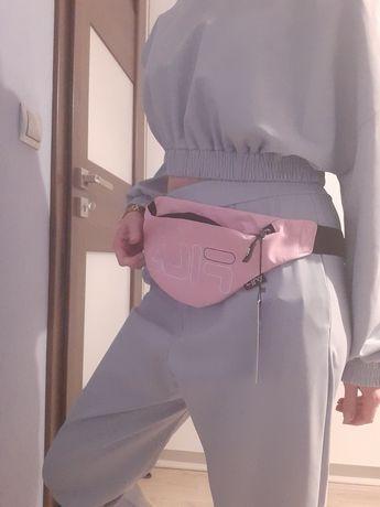 Nowa saszetka nerka Fila pudrowy róż torebka na pasku