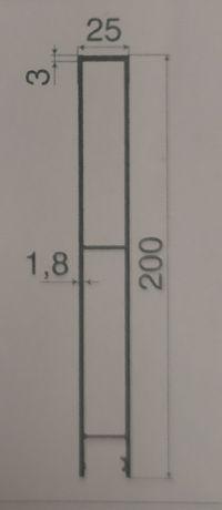 Profil do budowy burt aluminiowych 200mm