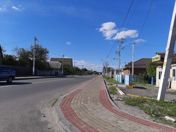 Село Синяк, Вишг. району. 25 сот, забудова. асфальт, терміново!