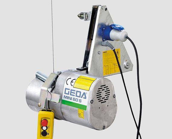 Wciągarka GEDA Mini 60 S lina L=51m. Z dostępnymi akcesoriami