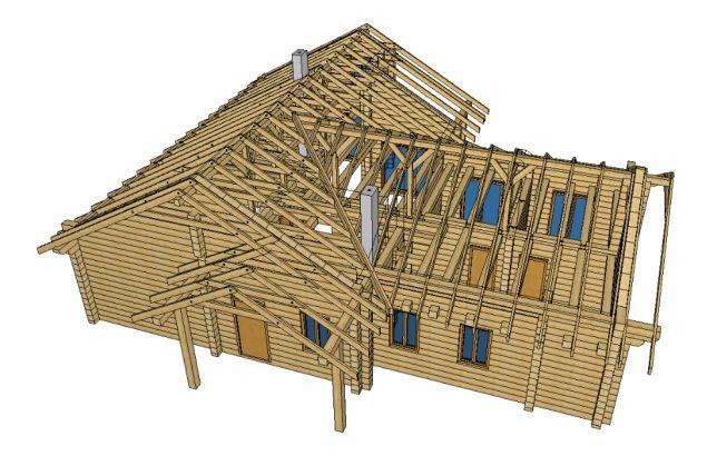 Więźba dachowa CNC prefabrykowana, suszona, strugana, impregnowana,C24