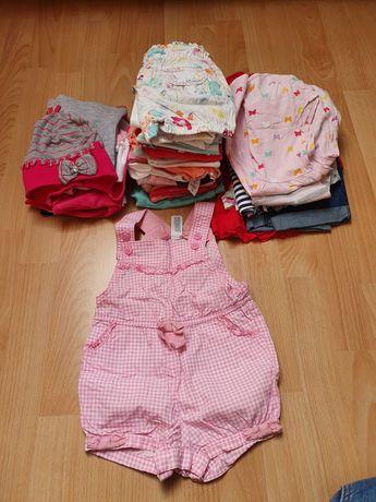 74- 98 Paka ubranek dla dziewczynki