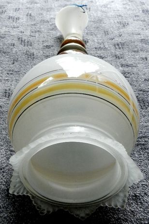 Stylowy żyrandol wiszący, ceramika metal szkło, działający unikat PRLu