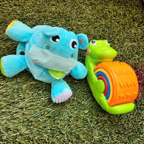 Zabawki Fisher Price - pilka 2 w 1 hipopotam oraz rozkołysany krokodyl
