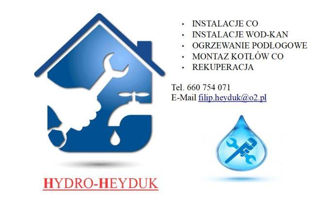 Instalacje CO, Hydraulik, Ogrzewanie Podłogowe, Instalacje wod-kan,