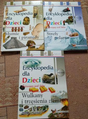 Encyklopedie dla dzieci Wulkany i trzęsienia ziemi, Mumie i Strefy