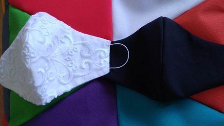 Maseczki ślubne dla pary młodej na wesele dla panny młodej i młodego