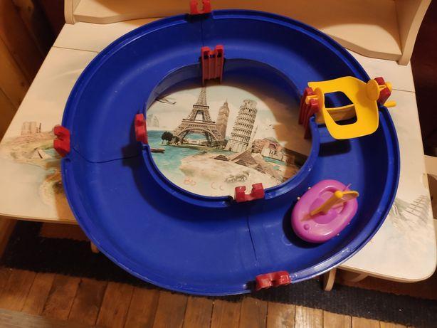 Набор для игры в ванной - трасса с корабликом