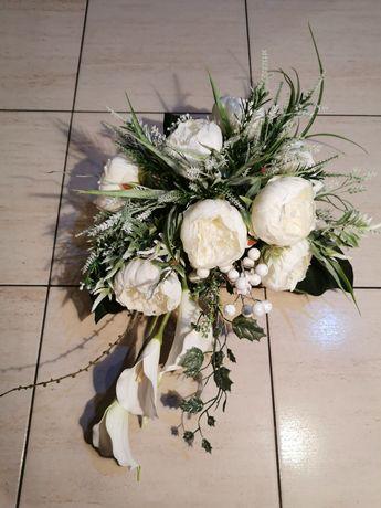 Kompozycja kwiatowa, wiązanka na grób, stroik piwonie