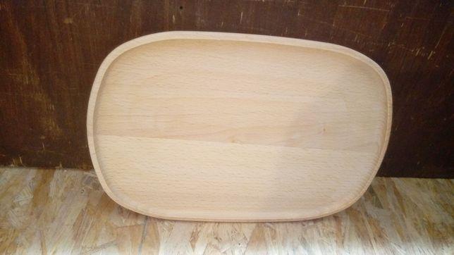 Talerzyk owalny duży drewniany -NOWY