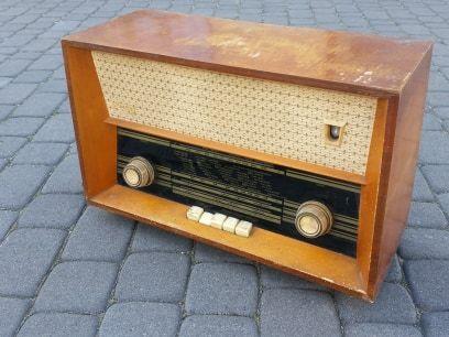 Stare zabytkowe radio Romans PRL antyk
