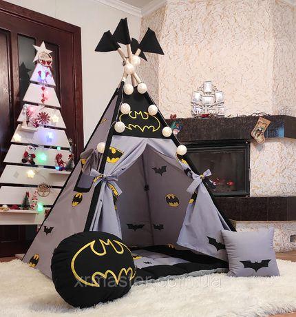Дитяча палатка вігвам домік Бетмен Повний комплект!