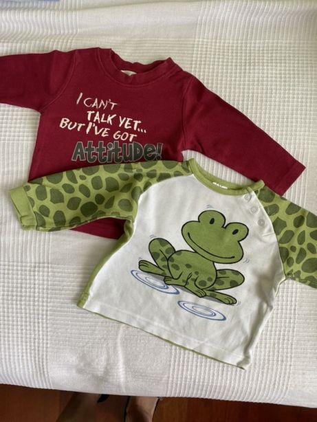Bluzeczki dla chłopca 68