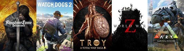 Kingdom Come Deliverance, World War Z, Watch Dogs 2, Ark i inne