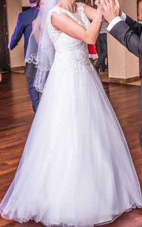 """Sprzedam Piękną ŚNIEŻNOBIAŁĄ Suknię Ślubną """"Magnolia"""" Afrodyta"""