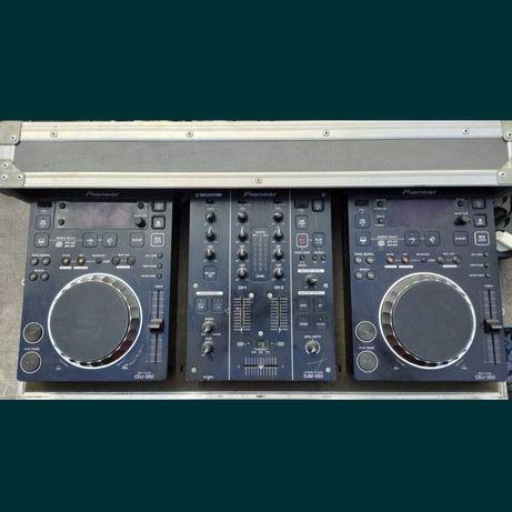 Pioneer CDJ 350 x2 plus mixer DJM 350.