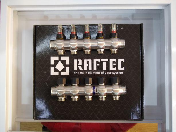 Коллектор нержавейка Raftec Рафтек для теплого пола в сборе 2-12 конт