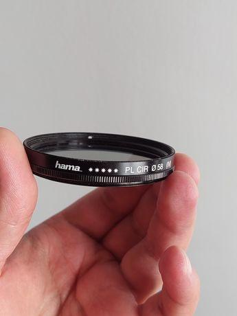 Filtro CPL polarizador circular marca Hama, 58mm