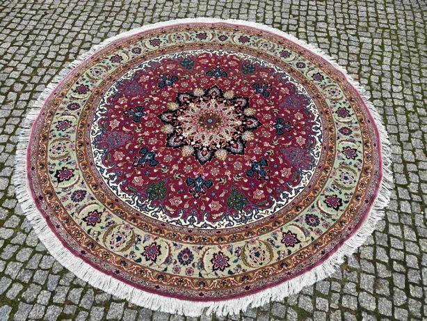 Nowy dywan perski Tabriz Raj średnica 210 cm sklep 50 tys