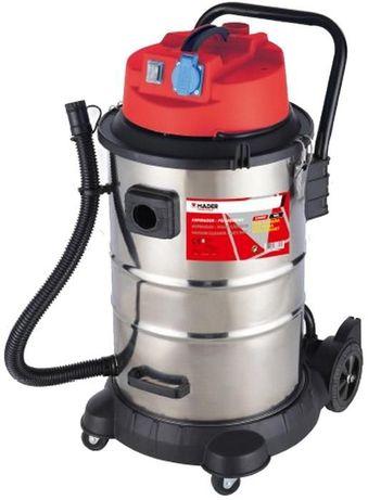 Aspirador sólidos e líquidos inox 50 litros 1400 W c/ tomada exterior