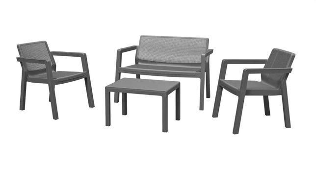 Meble Ogrodowe KETER EMILY Sofa + 2 Fotele + Stolik Kawowy Polirattan