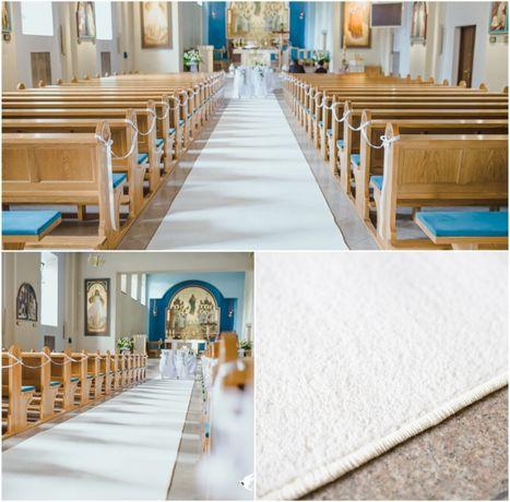 Biały dywan na ślub 25 m x 1,5 m