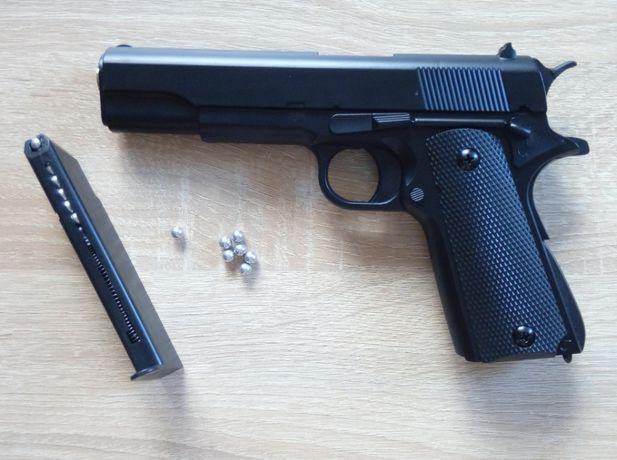 Страйкбольный пистолет из металла Colt M1911A1 CYMA + пули, страйкбол