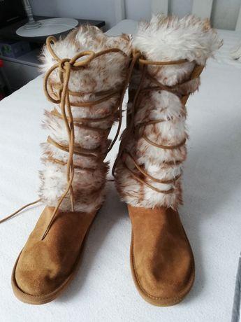 Eskimosy eskimoski buty kozaki ciepłe roz. 37-38
