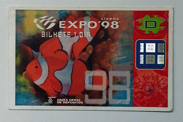 Bilhete - Expo 98 - bilhete de 1 dia
