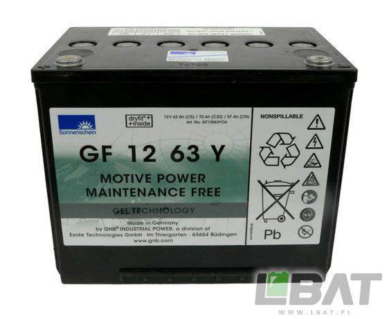 Bateria żelowa GF 12 063 Y SONNENSCHEIN 12V 63Ah Akumulator żelowy GEL