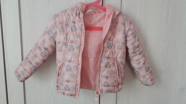 Pikowana kurtka różowa