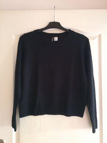 Sweterek H&M, sweter czarny basic