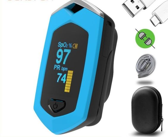 Pulsoksymetr napalcowy ładowanie USB bateria litowa - Dostępny