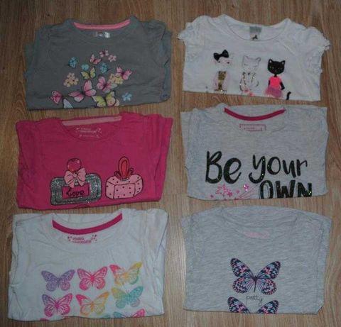 88->6szt bluzka koszula t-shirt C&A YOUNG DIMENSION r.98/104 2-4Y