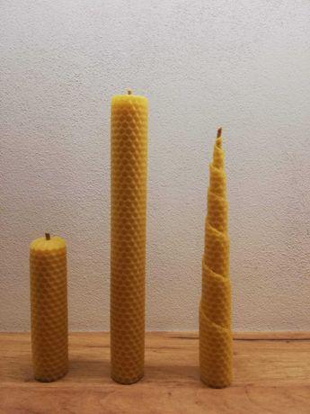 Świece z węzy pszczelej