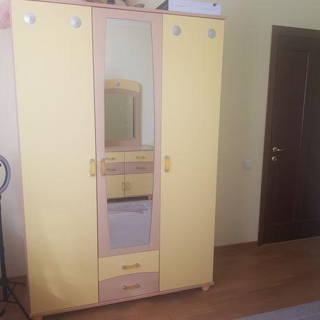 Мебель для детской комнаты+кровать с матрасом в подарок