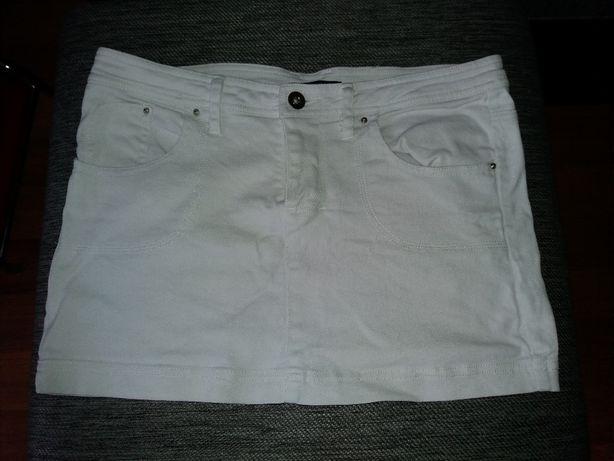 Biała spódniczka Dżinsowa