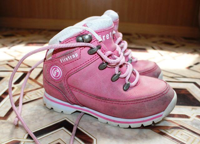 Ботинки розовые кожаные на девочку 25 размер кроссовки